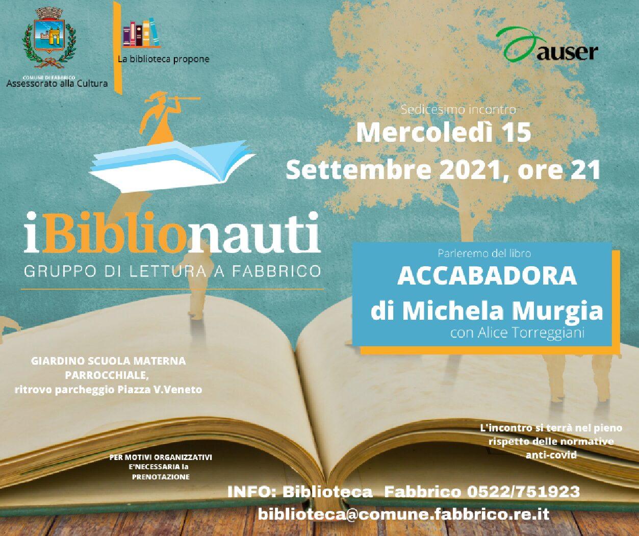 """GRUPPO DI LETTURA """"i biblionauti"""""""