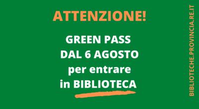 GREEN PASS IN BIBLIOTECA