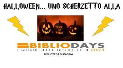 Bibliodays : Halloween… uno scherzetto alla paura